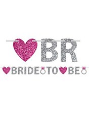Bride To Be Glitter Letter Banner