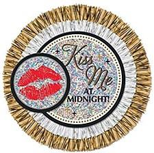 Jumbo Button Kiss Me At Midnight!