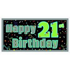 Brilliant 21st Birthday Banner