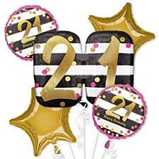 Pink & Gold 21st Birthday Bouquet