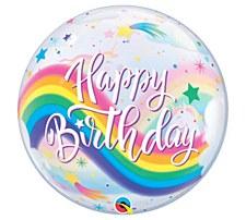 "22""Birthday Rainbow Unicorns"