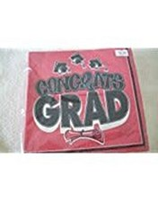 Congrats Grad Ruby Red Lunch Napkins