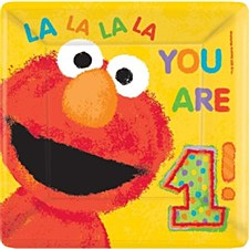 "Elmo's 1st Birthday 10""Square Plates"