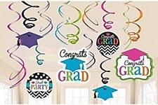 Congrats Grad Swirl Decorations