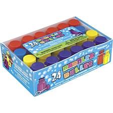 24 Party Bubbles Assorted Colors 0.6oz.