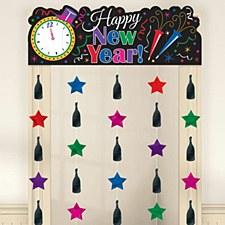 New Year Door Curtain