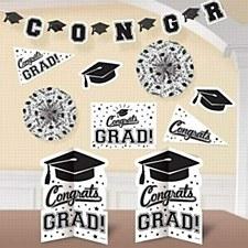 White Grad Room Decorating Kit