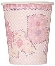 Baby Pink Stitching 9 oz. Cups 8ct