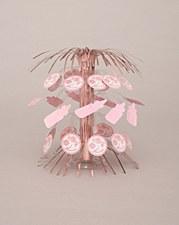 """Baby Pink Stitching Cascade Centerpiece 8 1/2"""""""