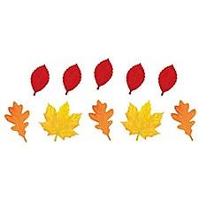 Mini Leaves Gliiter Cutouts