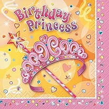 Pretty Princess Beverage Napkins 16ct
