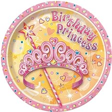 "Pretty Princess 7"" Dessert Plates 8ct"