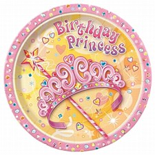 "Pretty Princess 9"" Lunch Plates 8ct"