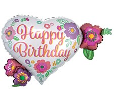 "27""Floral Print Birthday"