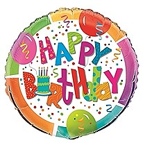 """Birthday Jamboree 18"""" Foil Balloon Bulk"""