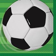 3D Soccer Beverage Napkins 16ct