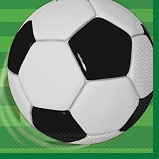 3D Soccer Luncheon Napkins 16ct
