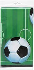 """3D Soccer Plastic Table Cover 54"""" x 84"""""""