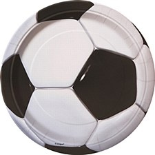 """3D Soccer 9"""" Lunch Plates 8ct"""