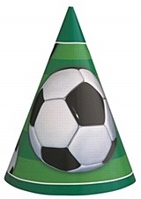 3D Soccer Party Hats 8ct