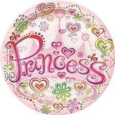 "Princess Diva 7"" Dessert Plates 8ct"