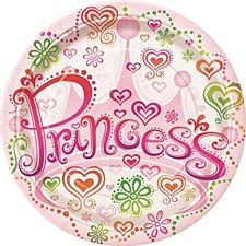 "Princess Diva 9"" Lunch Plates 8ct"