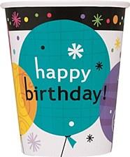 Breezy Birthday 9 oz. Cups 8ct