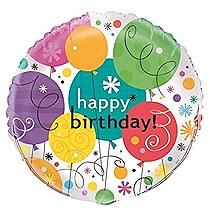 "Breezy Birthday 18"" Foil Balloon Bulk"