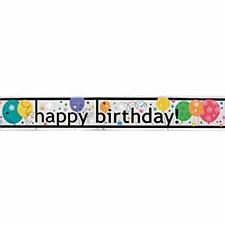 Breezy Birthday Foil Banner 12 Ft.