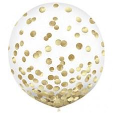 Metallic Gold Confetti Balloons