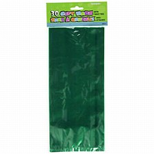 30 Forest Green Cello Bags