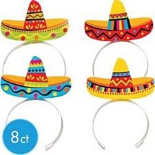 Sombrero Headbands - 8ct