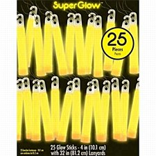 Yellow Glow Stick Necklaces 25ct