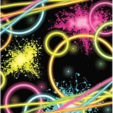 Glow Party Lunch Napkins, 16ct