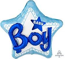 "32"" Celebrate Baby Boy Multi-Balloon"