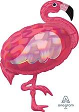 "33""Iridescent Pink Flamingo"