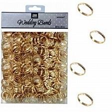 "3/4"" Wedding Bands Gold - Metal - 288ct"