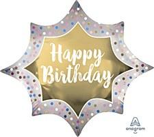 "35""Birthday Satin Gold Burst"