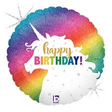 "36"" Glitter Unicorn Birthday"