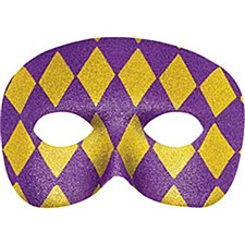 Harlequin Mask with Glitter