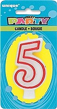 Number 5 Party Candle