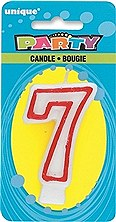 Number 7 Party Candle