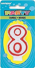 Number 8 Birthday Candle