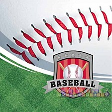 Baseball Bev. Napkin 16- 3-ply