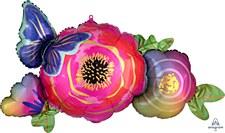 "37""Satin Flower & Butterfly"
