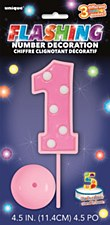 """""""Flashing Number Decoration - Pink"""