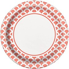 9IN Coral Scallop Plate