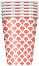 Coral Scallop Cups