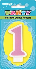 1sr Pink B-Day Candle
