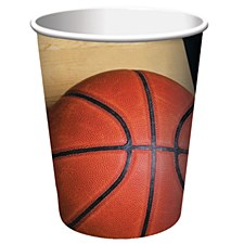 Sports Fanatic Basketball Hot/Cold 9oz Cup-8ct